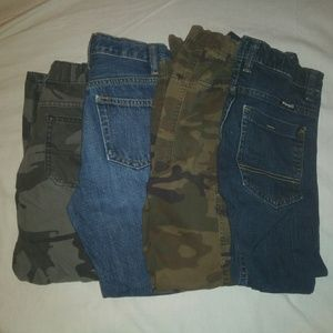 4 Pair Boys size 8 Jeans/Camo Pants